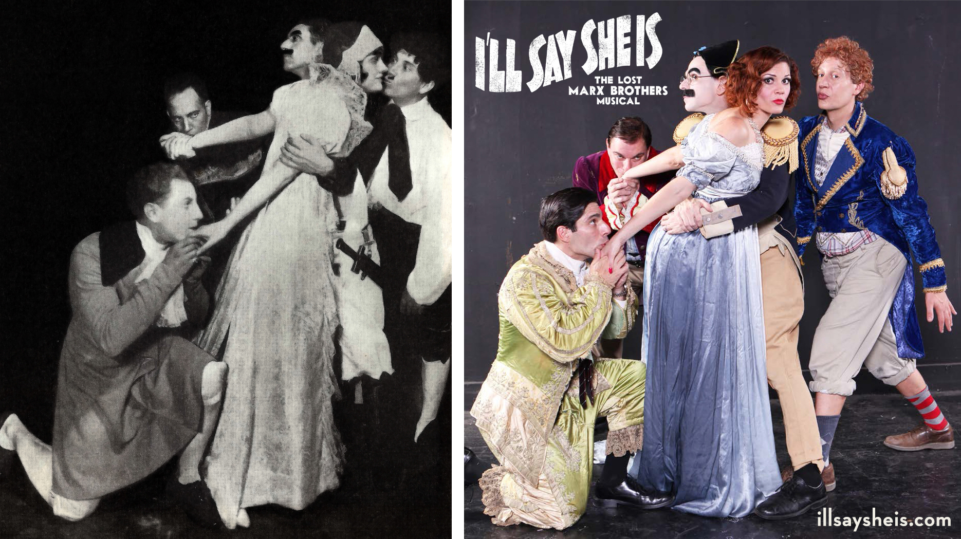 The legendary Napoleon scene from I'll Say She Is, as seen in 1924 and 2014. Photo by Don Spiro.